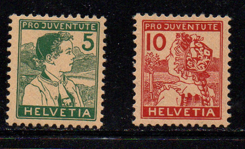 Switzerland Scott  B2-3 1915 Pro Juvente Charity stamp set mint