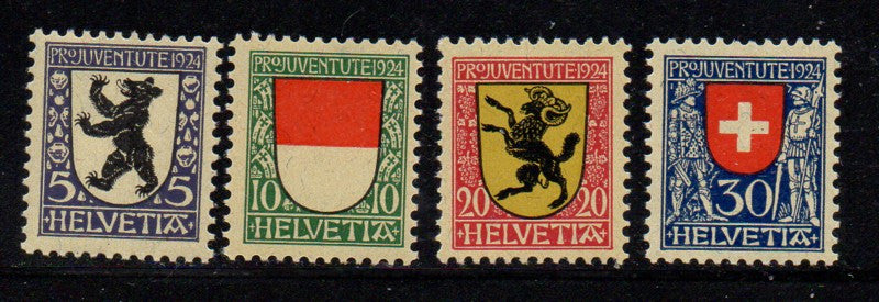 Switzerland Scott  B29-32 1924 Pro Juvente Charity stamp set mint NH