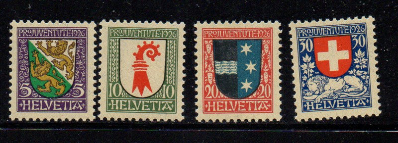 Switzerland Scott  B37-40 1926 Pro Juvente Charity stamp set mint NH
