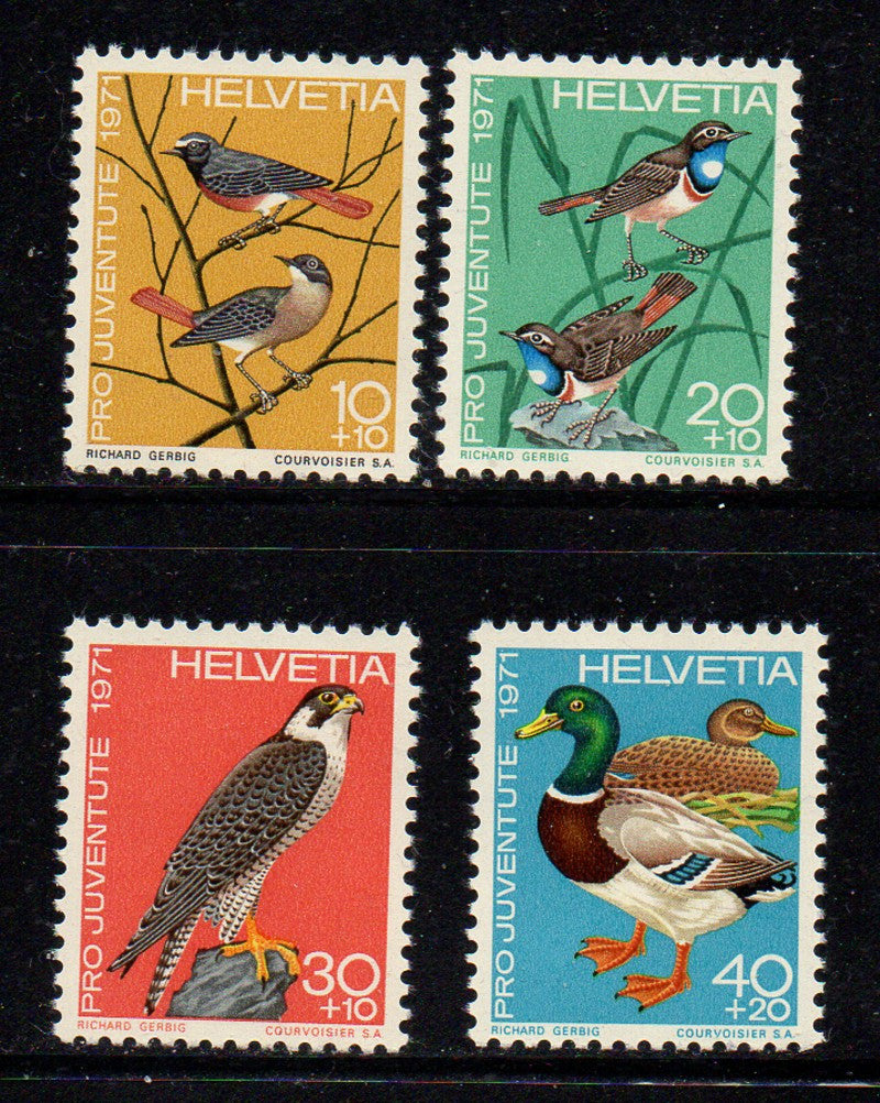 Switzerland Scott  B402-5 1971 Pro Juvente Charity stamp set mint NH