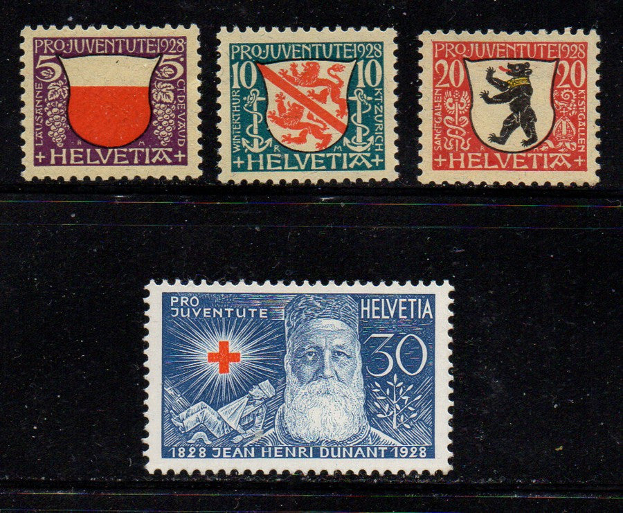 Switzerland Scott  B45-48 1928 Pro Juvente Charity stamp set mint