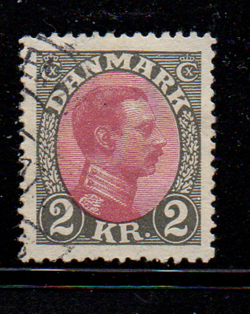 Denmark Scott  129 1925 2 kr Christian X stamp used
