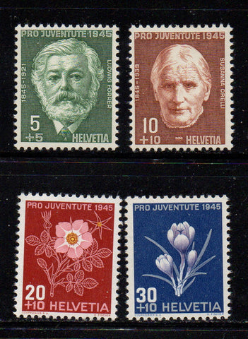 Switzerland Scott  B150-3 1945 Pro Juvente Charity stamp set mint