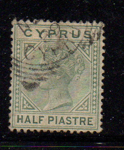 Cyprus Scott  19 1882 1/2p  Victoria stamp used