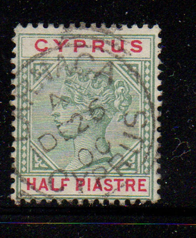 Cyprus Scott  28 1894 1/2p  Victoria stamp used