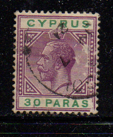 Cyprus Scott  63 1912 30 para George V stamp used