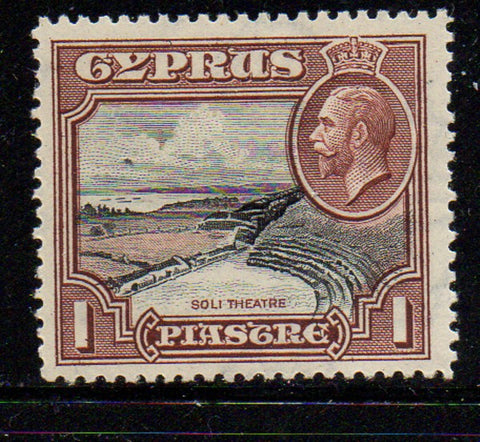 Cyprus Scott  128 1934 1 pi G V & Theatre stamp mint