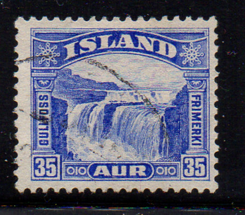 Iceland Scott  172 1931 35 aur Golden Falls stamp used