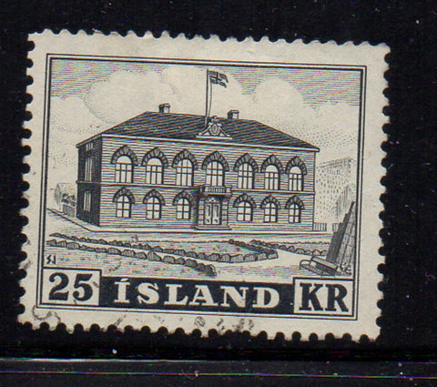 Iceland Scott  273 1952 25 kr Parliament Building stamp used