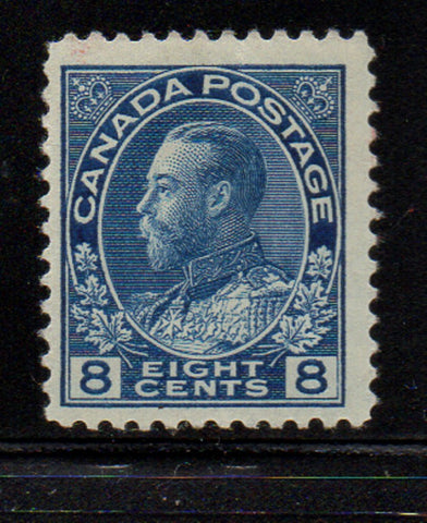 Canada Scott  115 1925 8c blue GV Admiral issue stamp mint NH