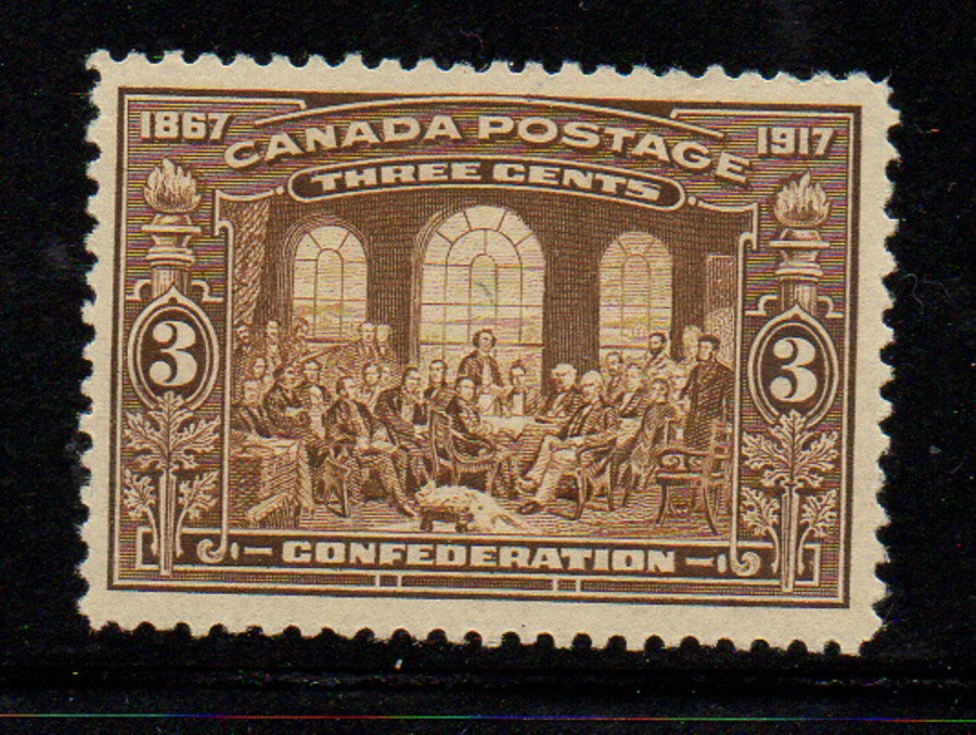Canada Scott  135 1917 50th Anniversary Confederation stamp mint