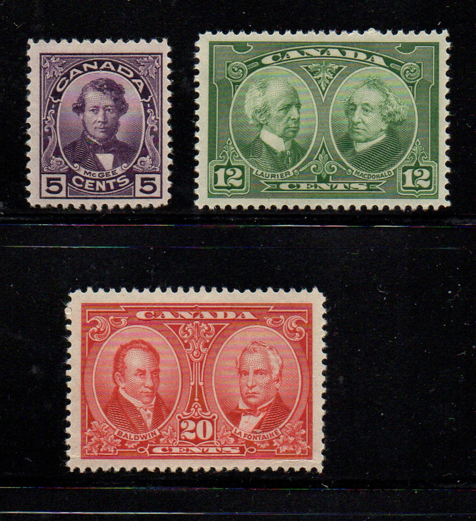 Canada Scott  146-8 1927 Historical stamp set mint