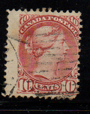 Canada Scott  45 10c brown red small Queen Victoria stamp used