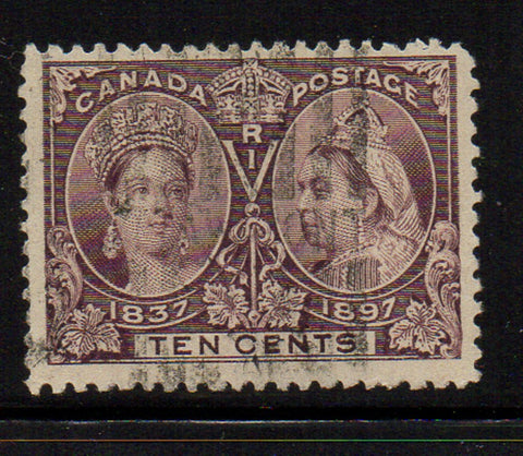 Canada Scott  57 1897 10c brown violet Victoria Jubilee stamp used