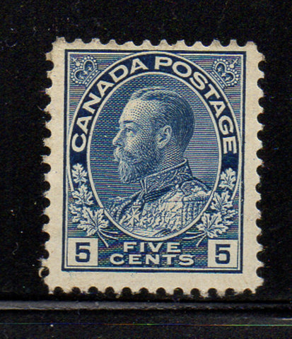 Canada Scott  111 1912 5c blue G V Admiral stamp  mint NH