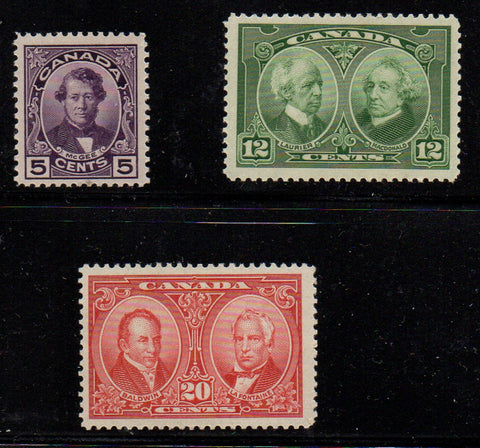 Canada Scott  146-8 1927 Historical stamp set mint NH