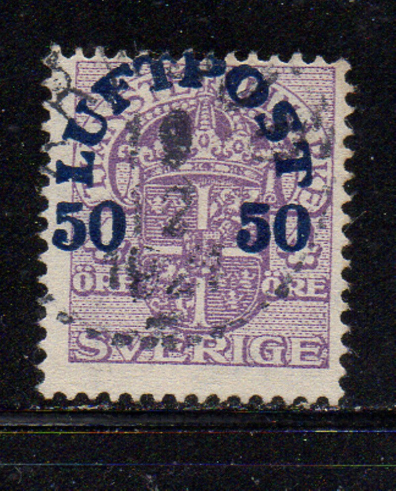 Sweden Scott C3 1920 50 ore airmail stamp used