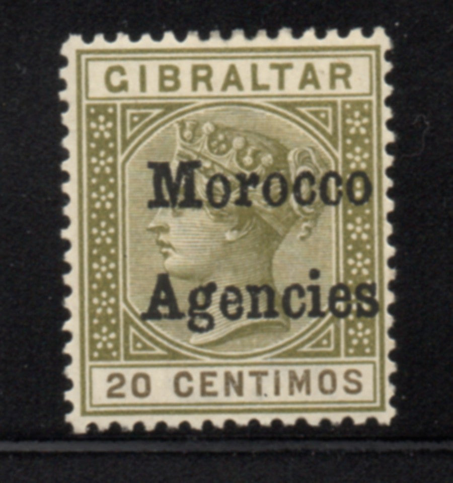Great Britain Morocco Agencies 3 1898 20 centimos Victoria  stamp mint