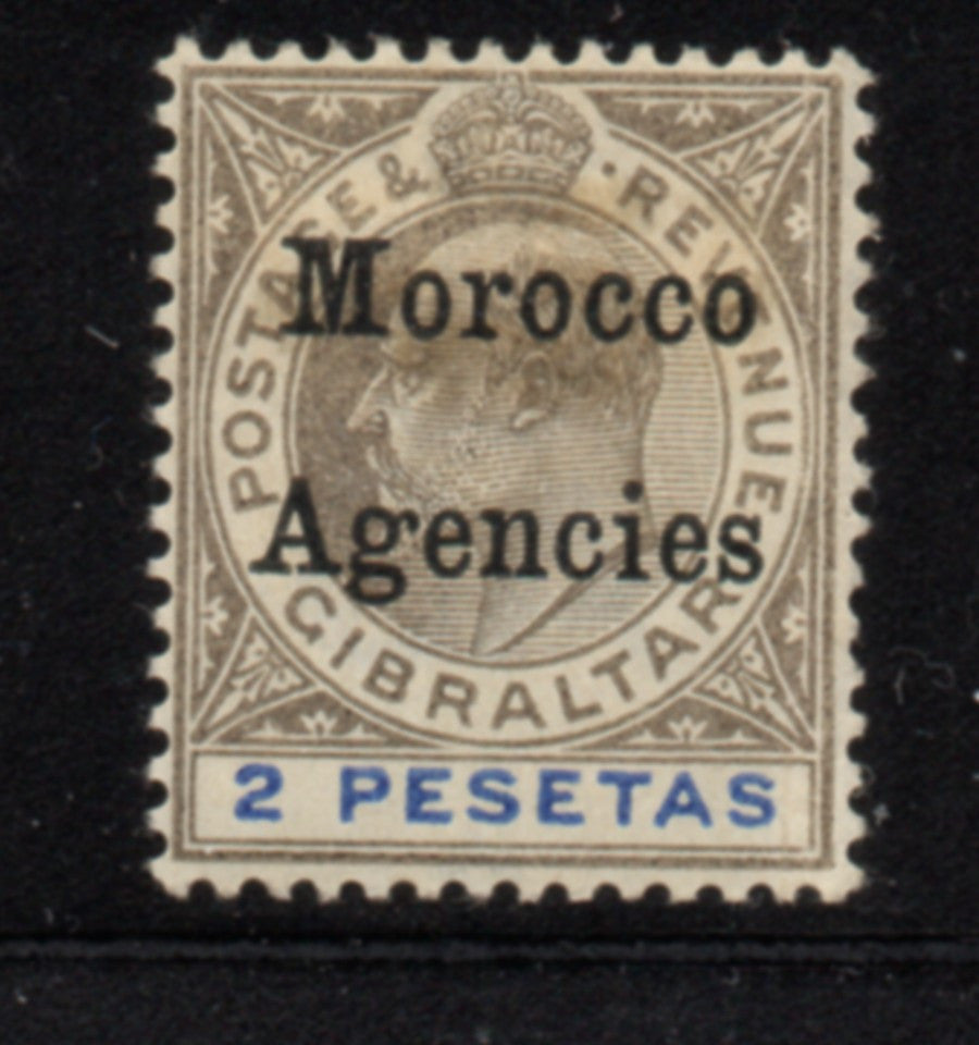 Great Britain Morocco Agencies Sc 23 1903 2p Edward VII  stamp mint