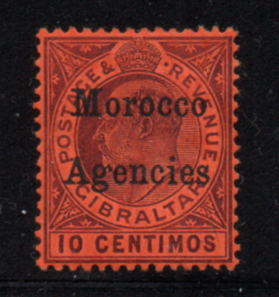 Great Britain Morocco Agencies Sc 28 1908 10c Edward VII  stamp mint