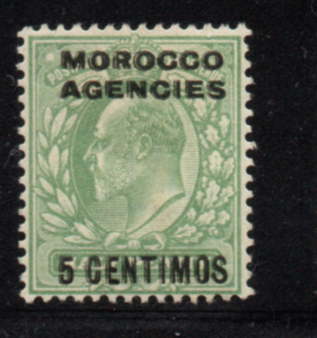 Great Britain Morocco Agencies Sc 34 1907 5 c Edward VII  stamp mint