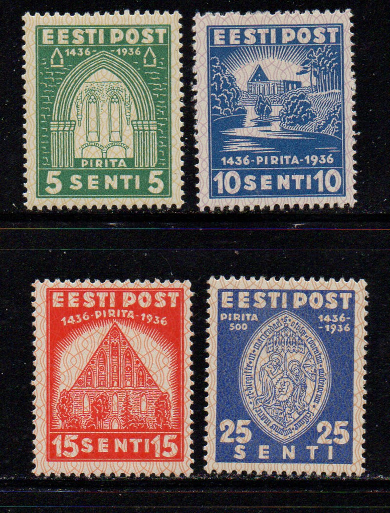 estonia Scott 134-7 1936 St Brigitta Convent stamp set mint