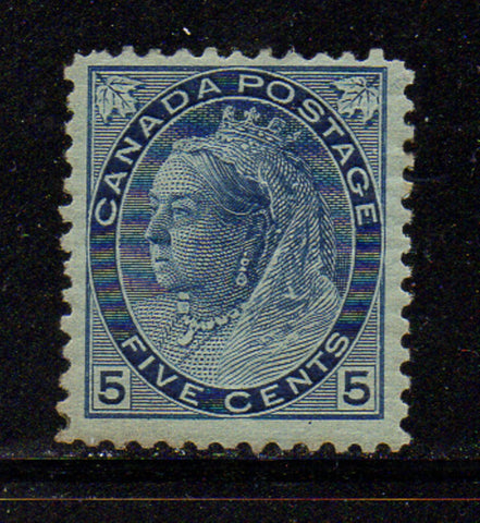 Canada Scott 79 1898 5 c blue Victoria numeral issue stamp mint