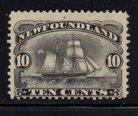 Newfoundland Scott 59 1887 10c black Schooner stamp mint