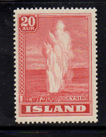 Iceland Scott  204 1938 20 aur Geyser stamp mint