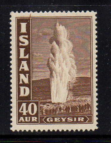 Iceland Scott  206 1939 40 aur Geyser stamp mint