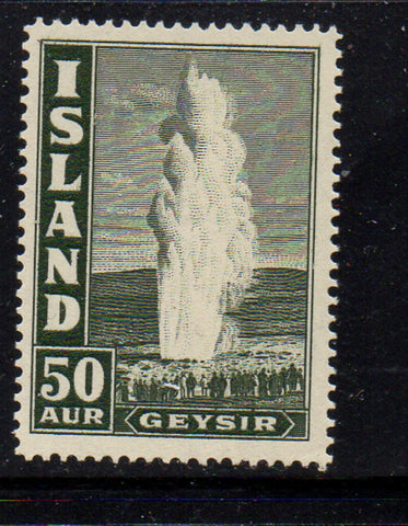 Iceland Scott  208 1938 50 aur Geyser stamp mint