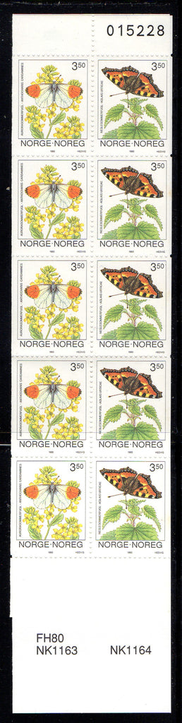 Norway Scott 1034b 1993 Butterflies stamp booklet mint NH