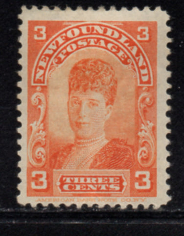 Newfoundland Sc 83 1898 3 c orange Princess of Wales stamp mint