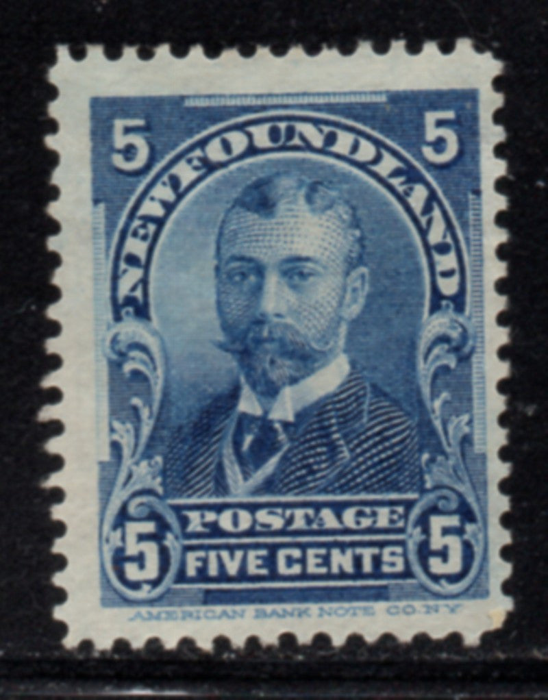 Newfoundland Sc 85 1899 5c blue Duke of York stamp mint