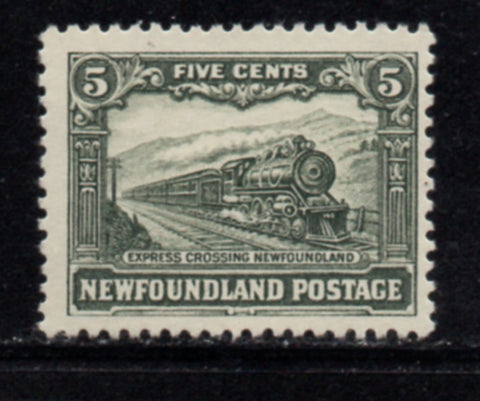 Newfoundland Sc 149 1928 5 c train stamp mint