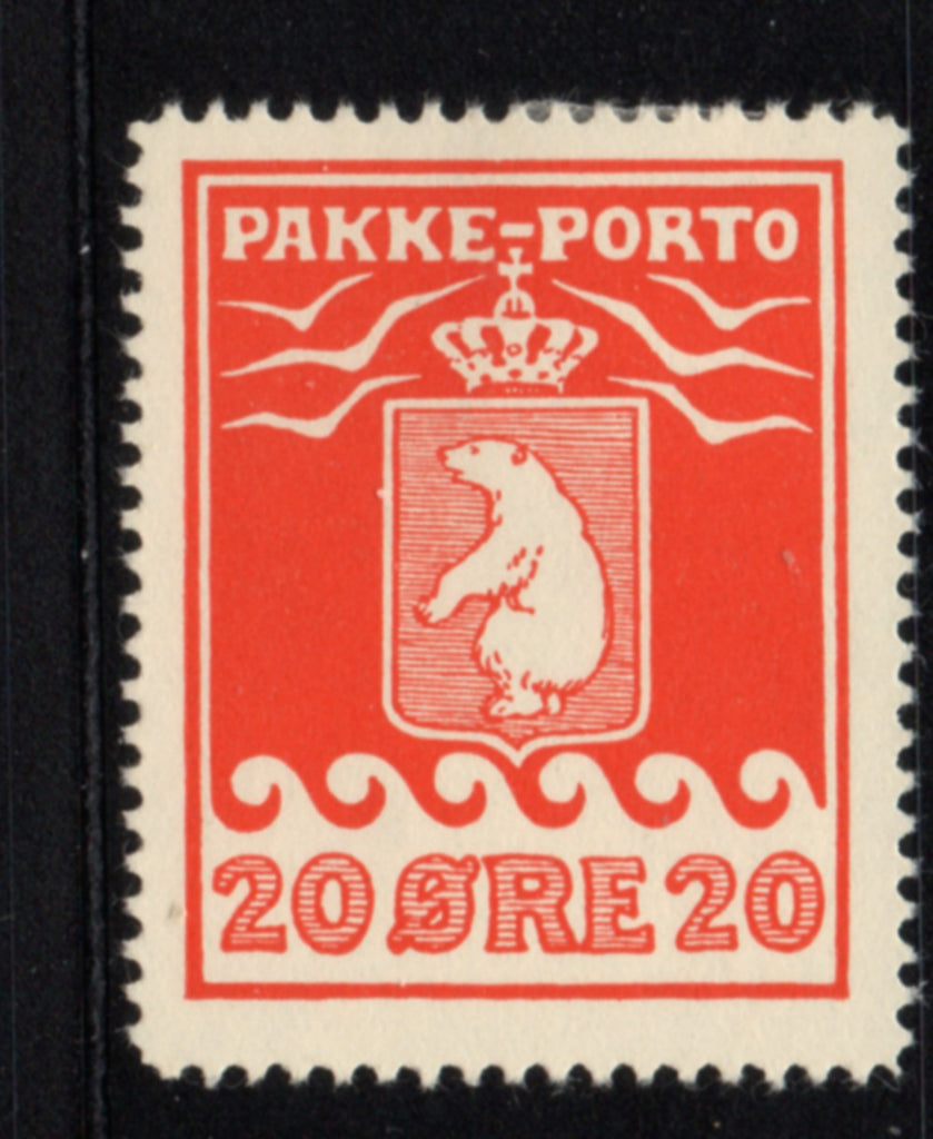 Greenland Scott  Q6a 193720 ore Polar Bear Parcel Post stamp mint