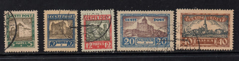 Estonia Scott  B15-19 1927 views stamp set used
