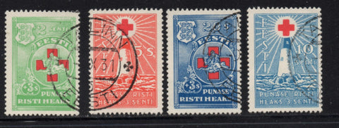 Estonia Scott  B20-23 1931 Red Cross stamp set used