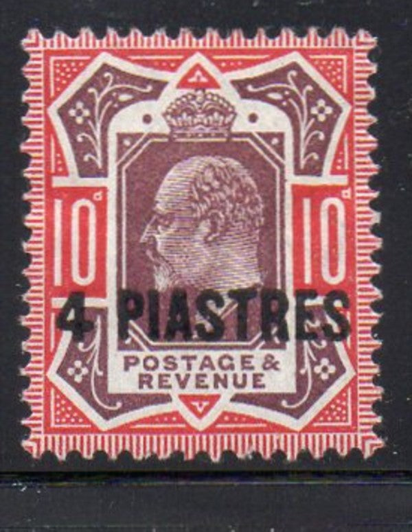 Great Britain Offices in Turkish Empire Sc 10 1902 4 pi on 10d E VII stamp mint