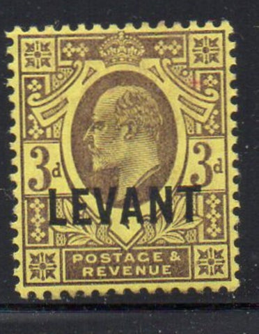 Great Britain Offices in Turkish Empire Sc 20 1905 LEVANT ovpt on 3d E VII stamp mint