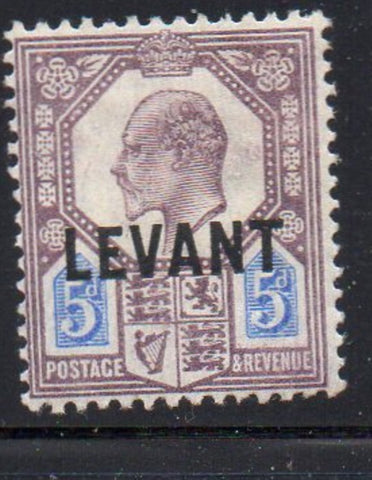 Great Britain Offices in Turkish Empire Sc 22 1905 LEVANT ovpt on 5d E VII stamp mint