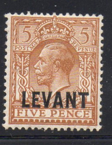Great Britain Offices in Turkish Empire Sc 51 1921 LEVANT ovpt on 5d G V stamp mint