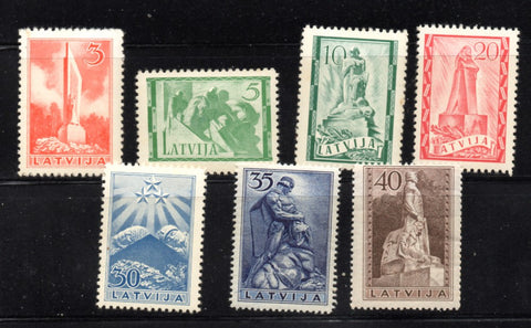 Latvia Scott  193-99 1937 Monuments stamp set mint NH