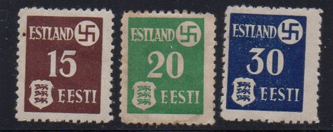 Estonia Scott  N3-5 1941 German Occupation  stamp set mint