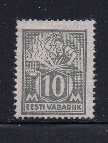 Estonia Scott  89 1928 10m Blacksmith, Philatelic Exhibition, stamp mint