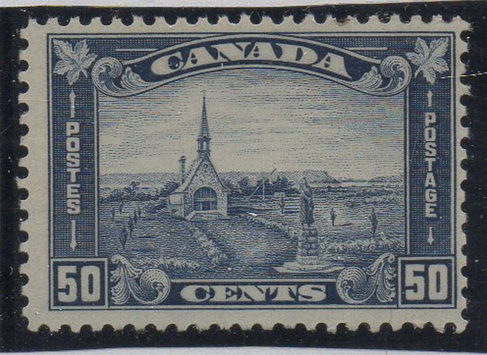 Canada Scott  176 1930 50 c Grand Pre Church stamp mint