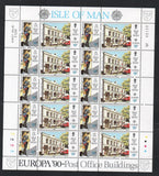 Isle of Man Scott 418-21 1990 Europa stamp set mint NH in sheets
