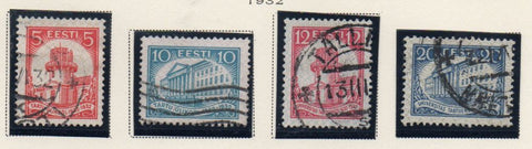 Estonia Sc 108-11 1932 University of Tartu stamp set used
