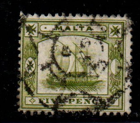 Copy of Malta Sc 34 1911 2d gray Edward VII stamp used