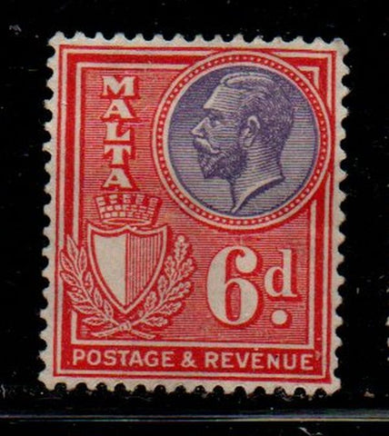 Malta Sc 140 1926 6d red & violet George V stamp mint